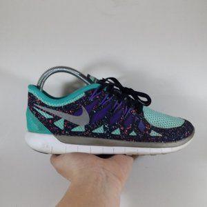 Nike 5.0 Free Aqua Confetti Splatter Sneakers Shoe